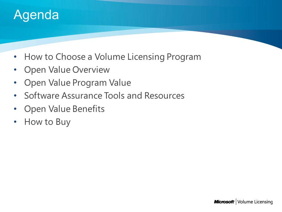 microsoft open value vs open volume
