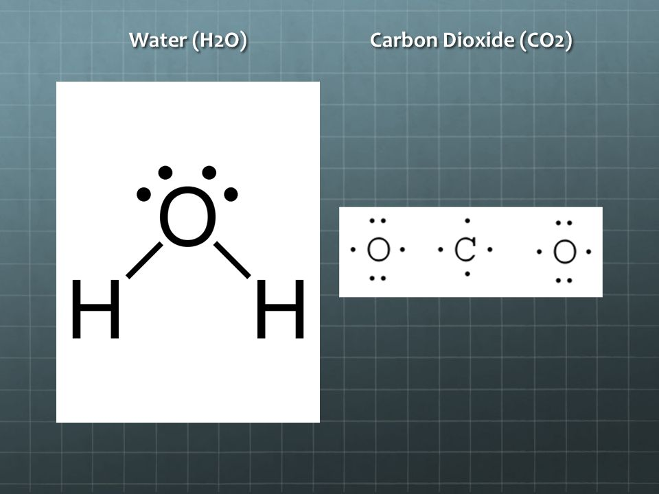Water (H2O) Carbon Dioxide (CO2)