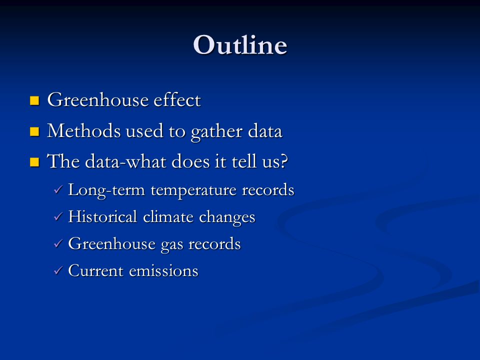 climate change the science outline greenhouse effect greenhouse