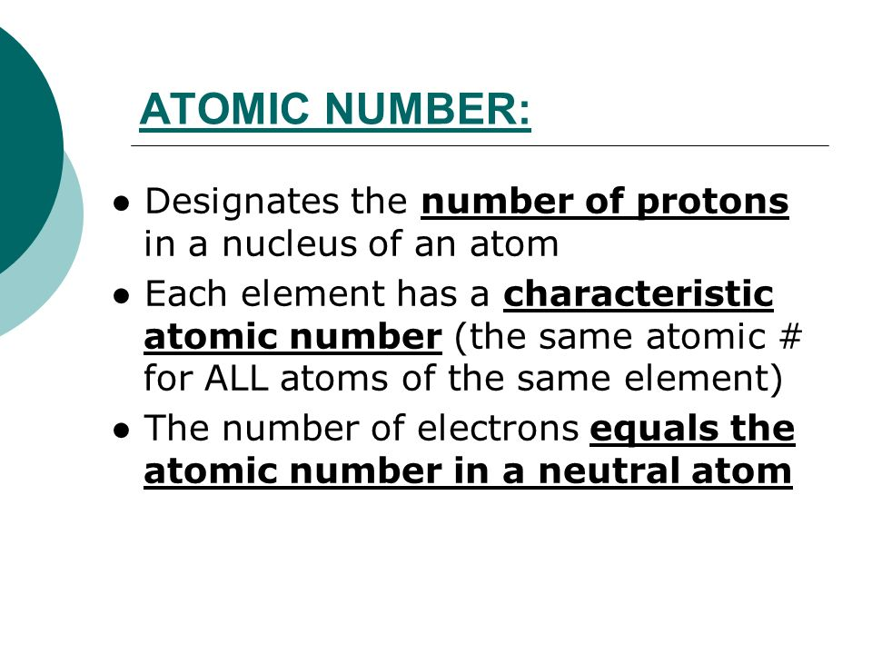 NOTES – 4 3: Atomic Number, Mass Number, Isotopes and Atomic