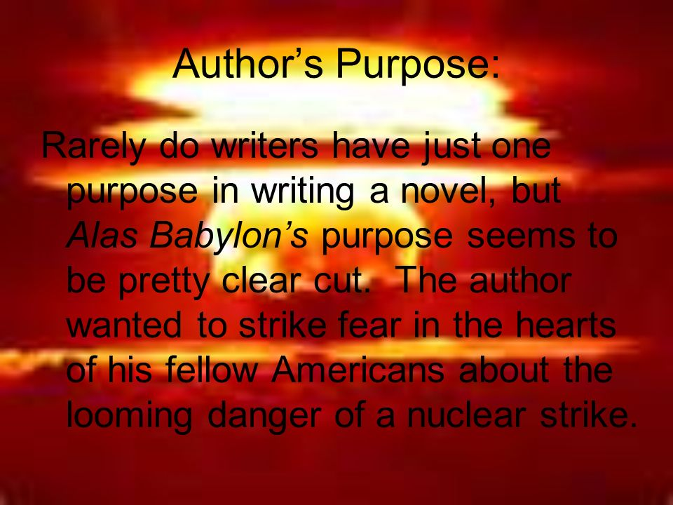 what is the theme of alas babylon