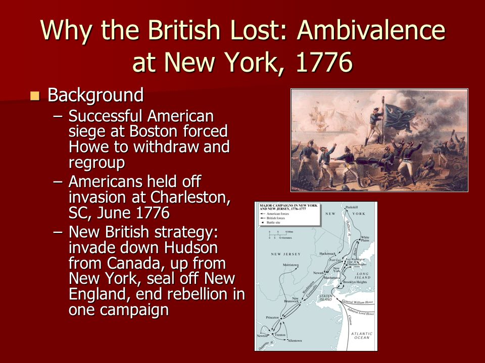 britain lost the revolutionary war because it