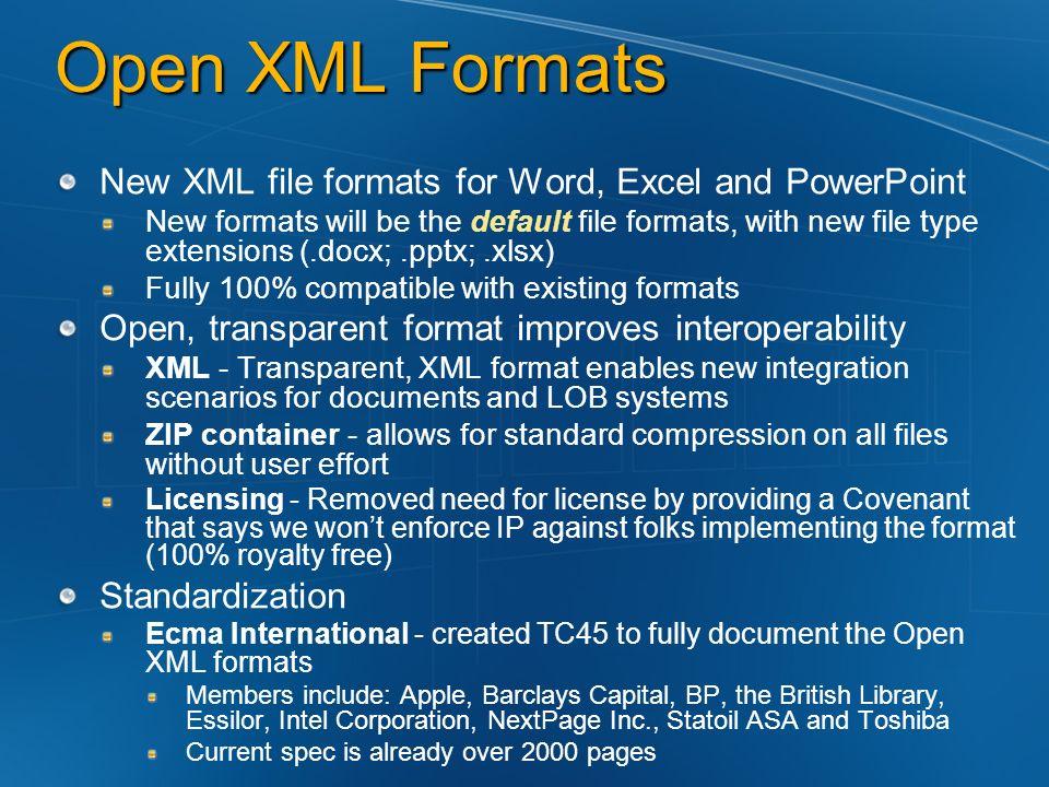 Open XML Formats Jessica Gruber Consultant Microsoft Corporation