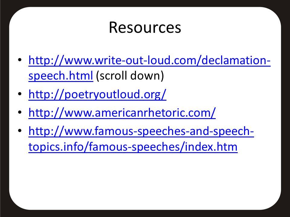 famous topics for speech