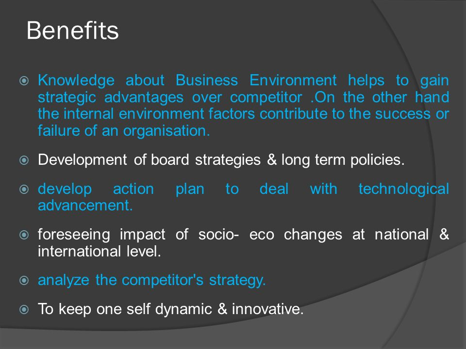 benefits of environmental analysis