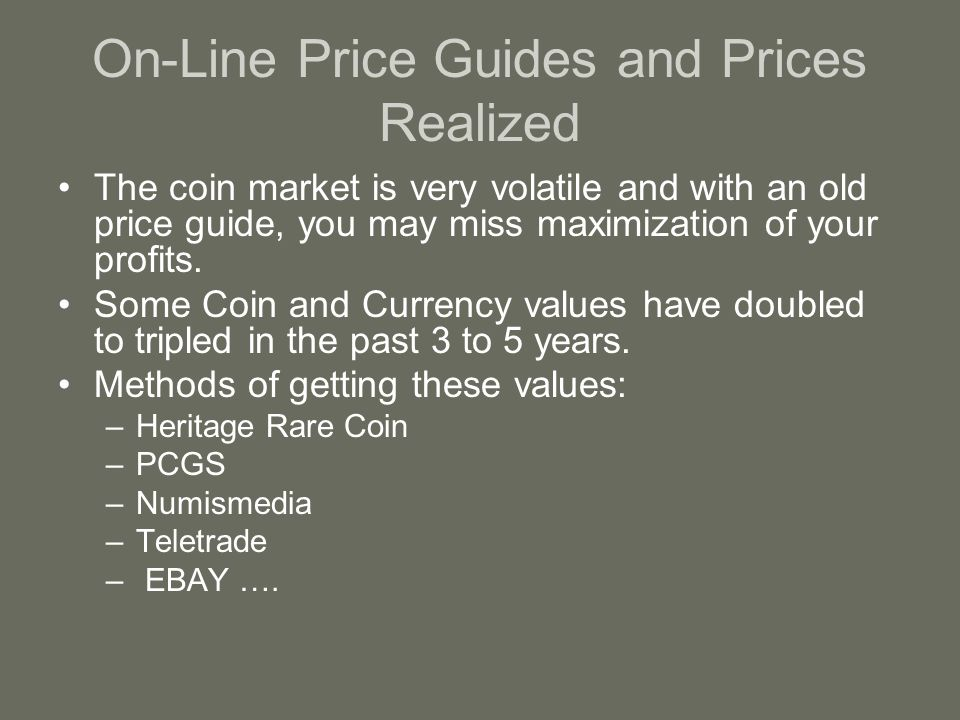Value Guides How much are my coins worth?  Grading vs  Value