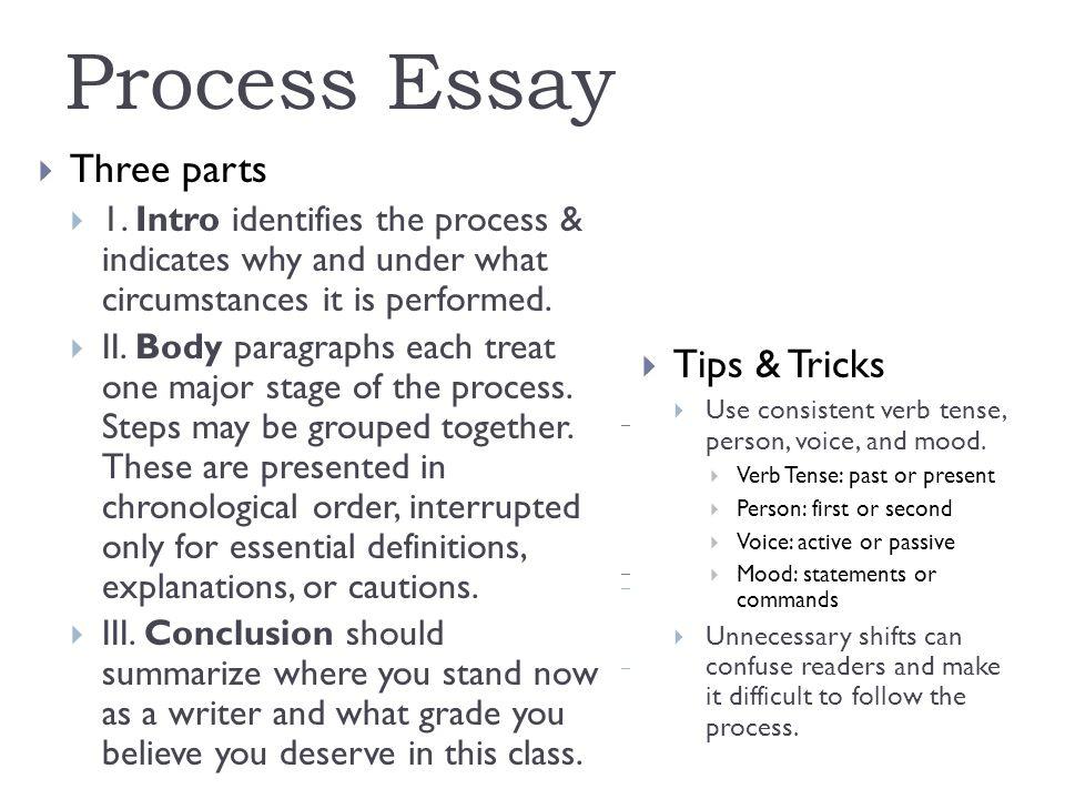 Revision Example Process Essay Three parts 1 Intro