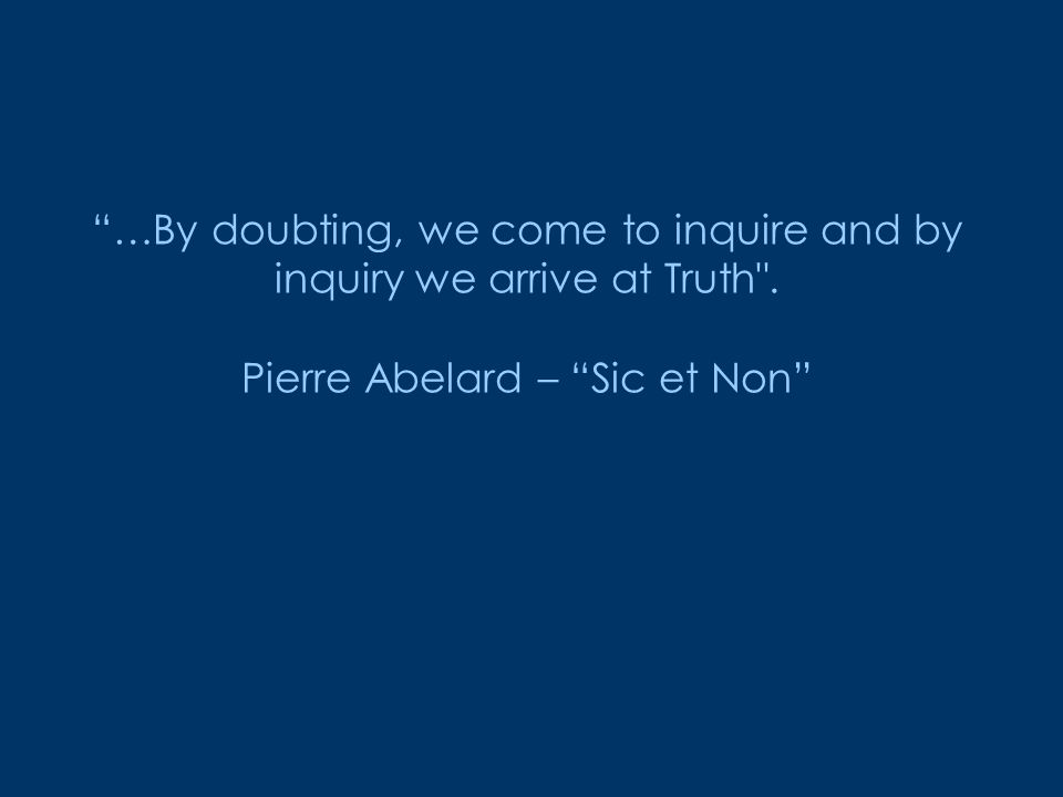 Abelard sic et non online dating