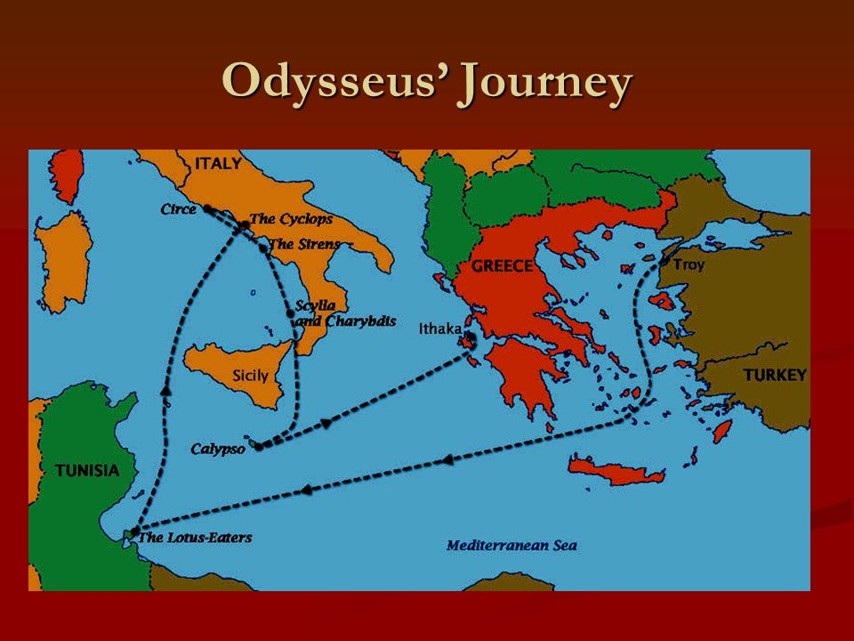 Introduction to the Odyssey English I Mrs. Groomer. - ppt ... on the sirens odysseus, map of ithaca greece, map of ithaca island, map of ulysses journey,