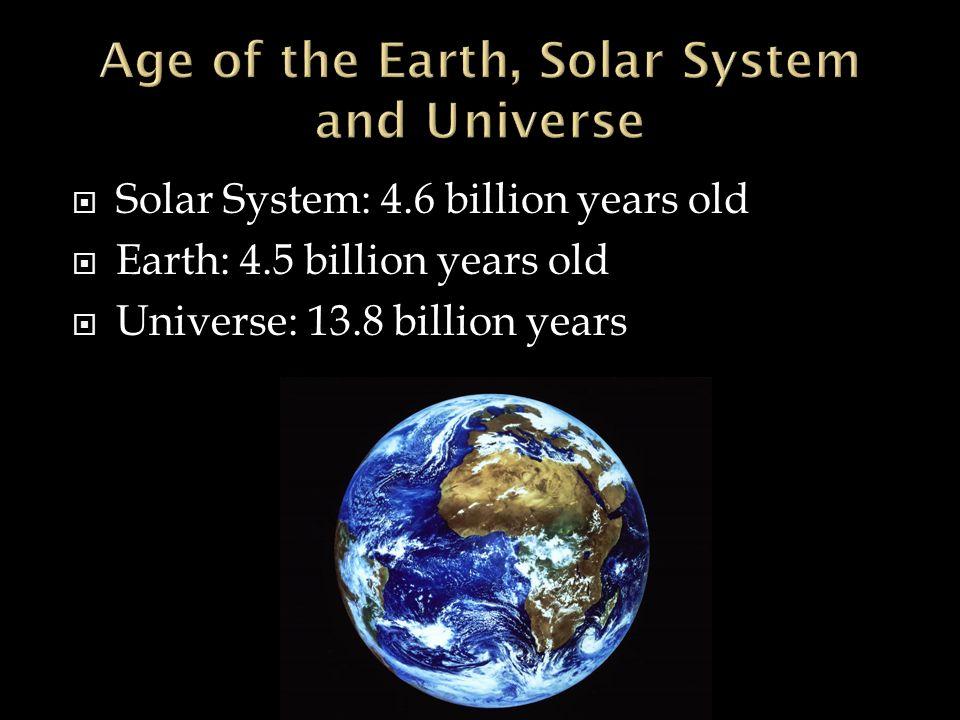 1  Ef 82 A8 Solar System 4 6 Billion Years Old  Ef 82 A 5 Billion Years Old  Ef 82 A 8 Billion Years
