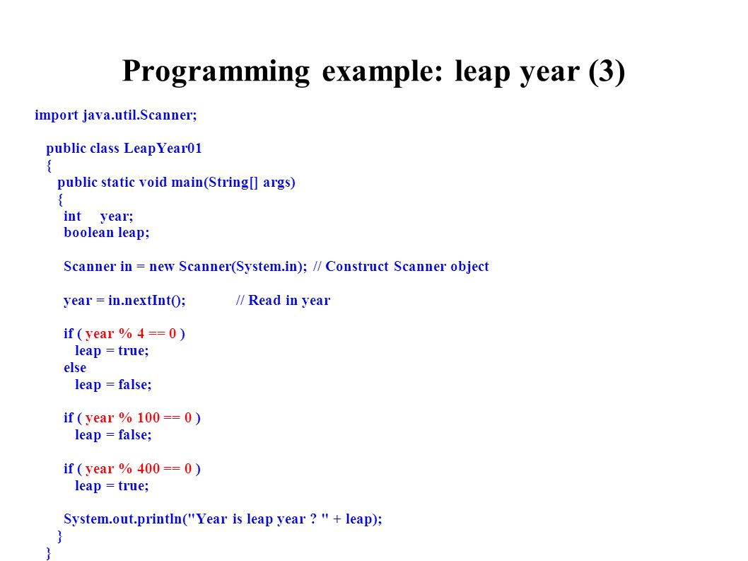 If else statement in java.