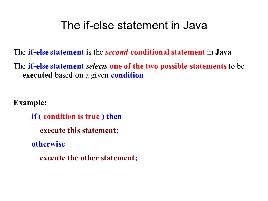A quick review of if-then-else statements in java – cis sandbox.