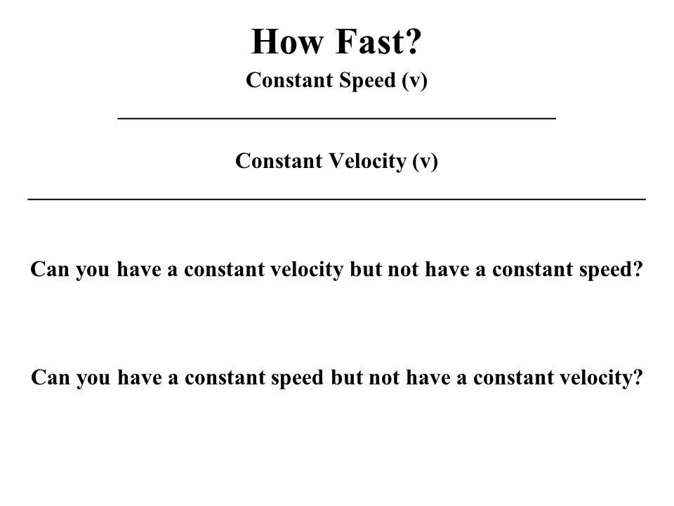 How Fast.