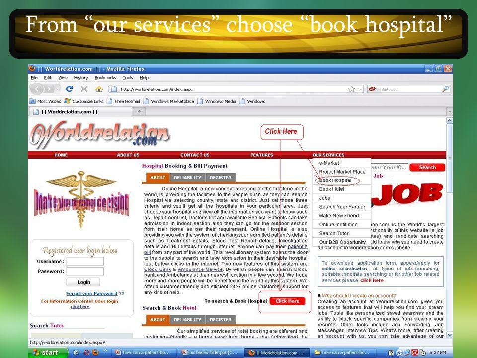 ONLINE HOSPITAL MANAGEMENT SYSTEM ONLINE HOSPITAL MANAGEMENT SYSTEM