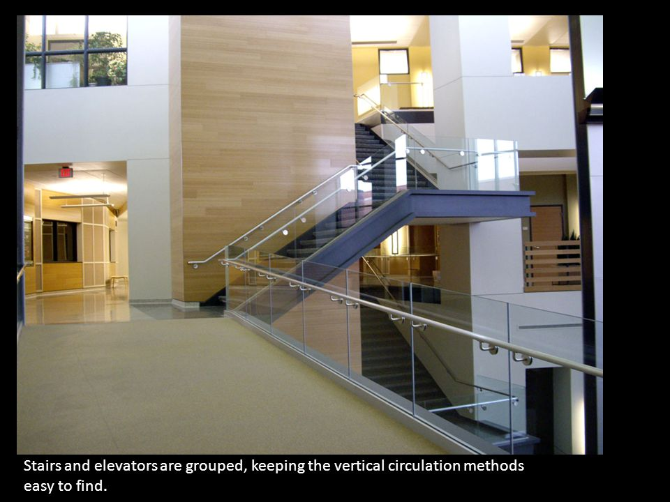 5 Stairs And Elevators Are Grouped, Keeping The Vertical Circulation  Methods Easy To Find.