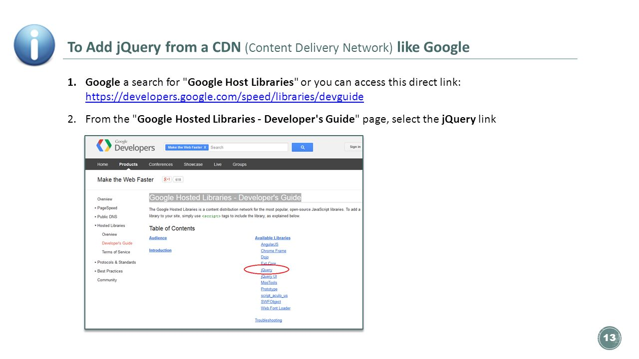 Conditional Statements   Quiz  The 'jQuery Template