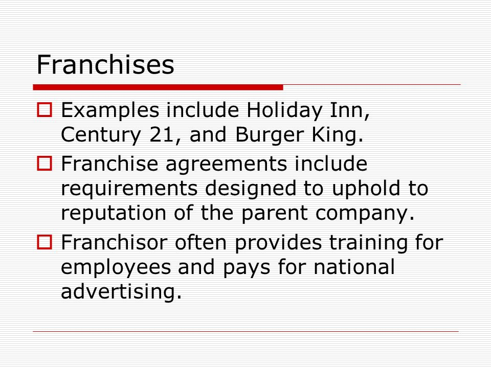 Franchises Leq What Are The Advantages And Disadvantages Of