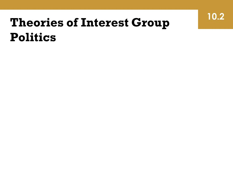 Theories of Interest Group Politics 10.2