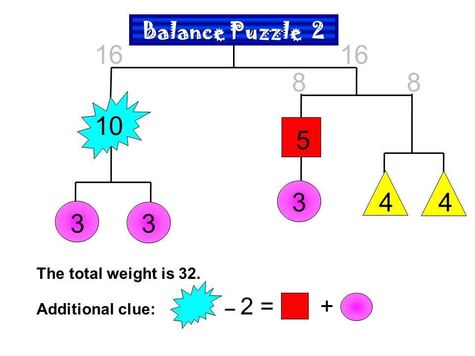 How to Solve Balance Puzzles  Balance Puzzles Here are the