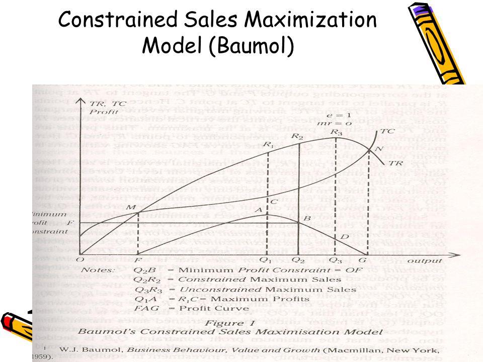 baumols sales maximisation model pdf