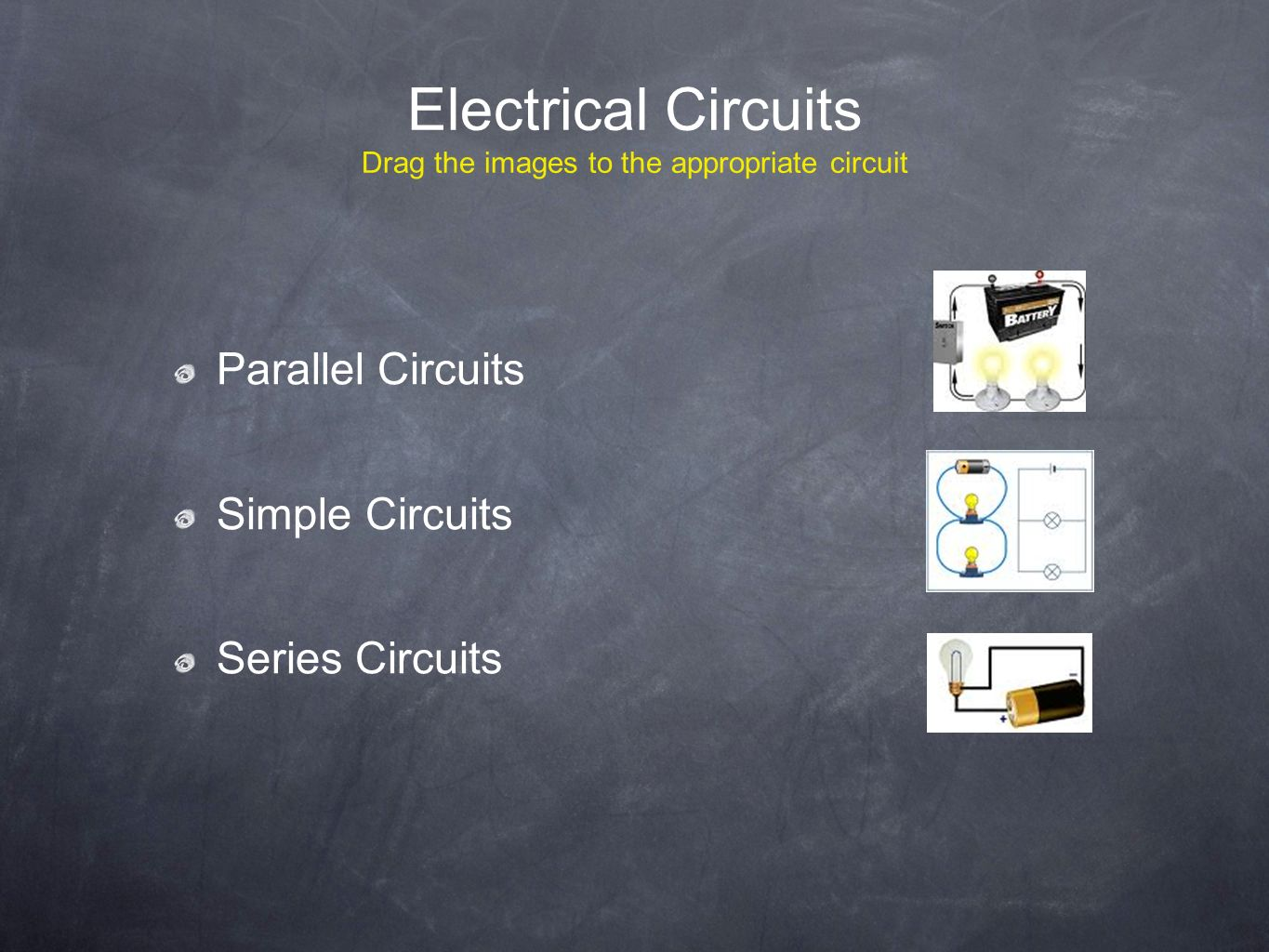 Electric Energy Transfer And Conservation Mst Inquiry Unit Dr O Series Circuits Parallel 6 Electrical Drag The Images To Appropriate Circuit Simple