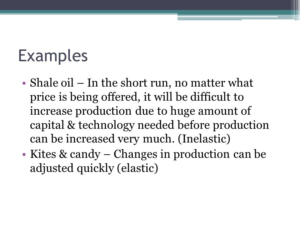 types of elasticity of supply with examples