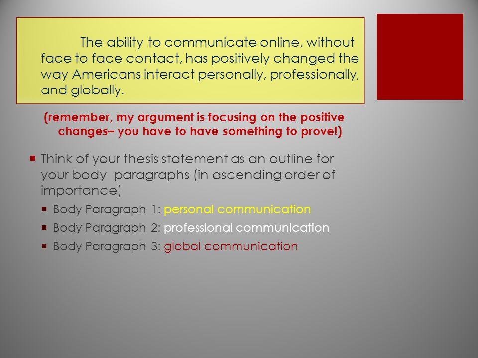 online communication essay