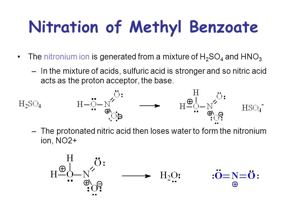 nitration of methyl benzoate mechanism