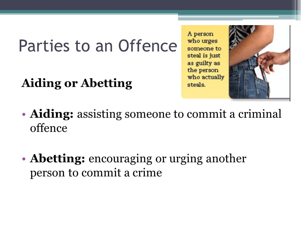 aiding and abetting a criminal offence definition