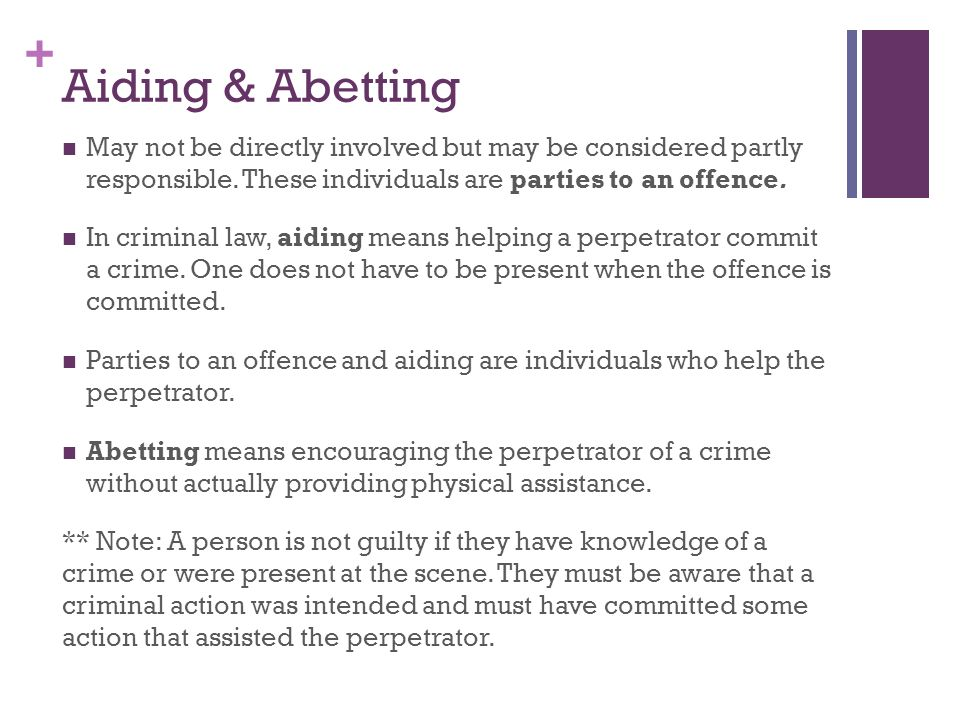 abetting law definition
