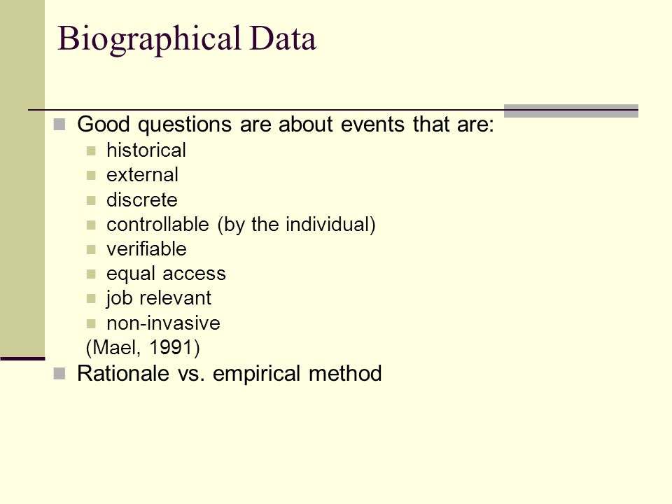 3 biographical data