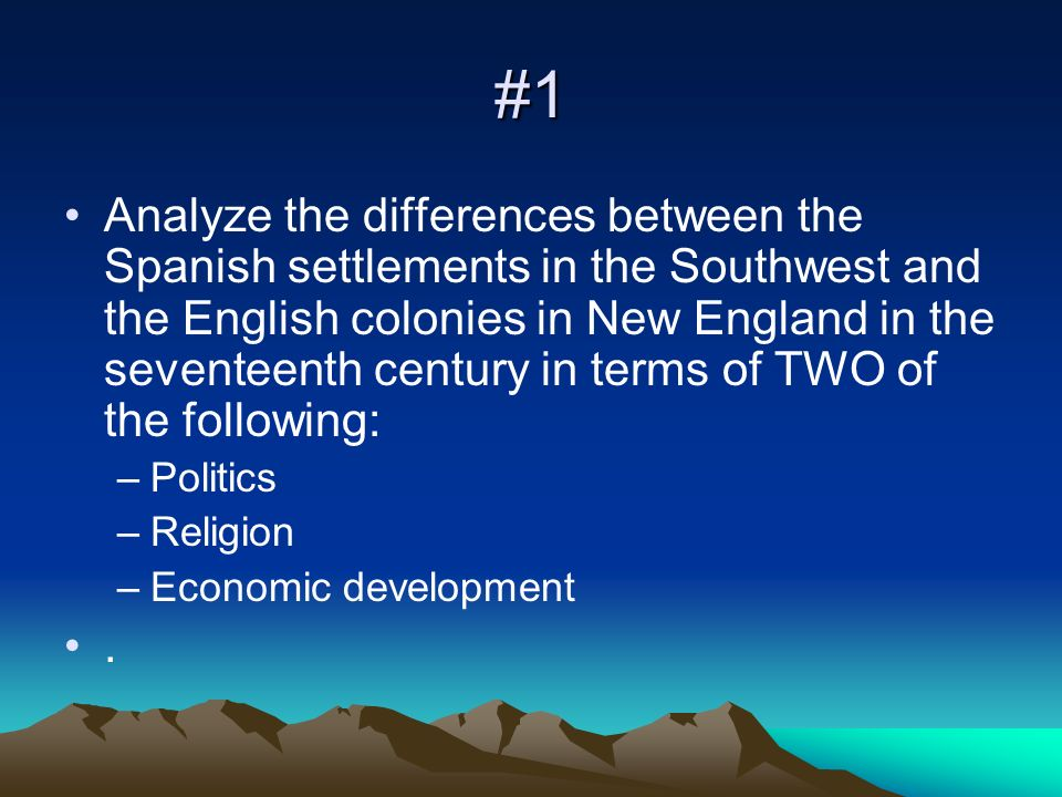 3 colonies differences