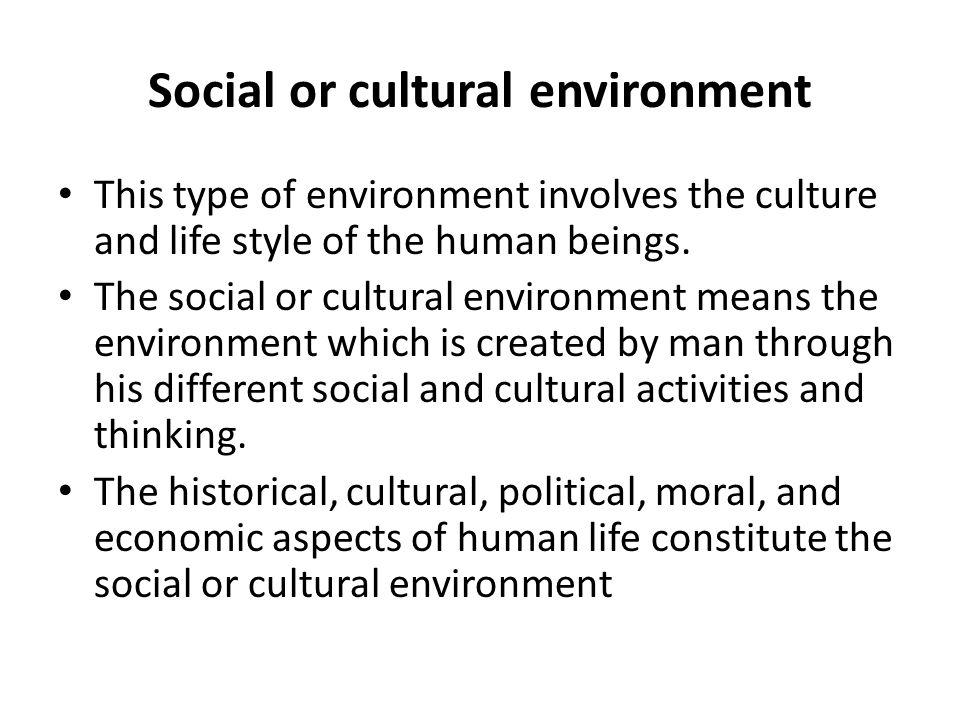define social cultural environment