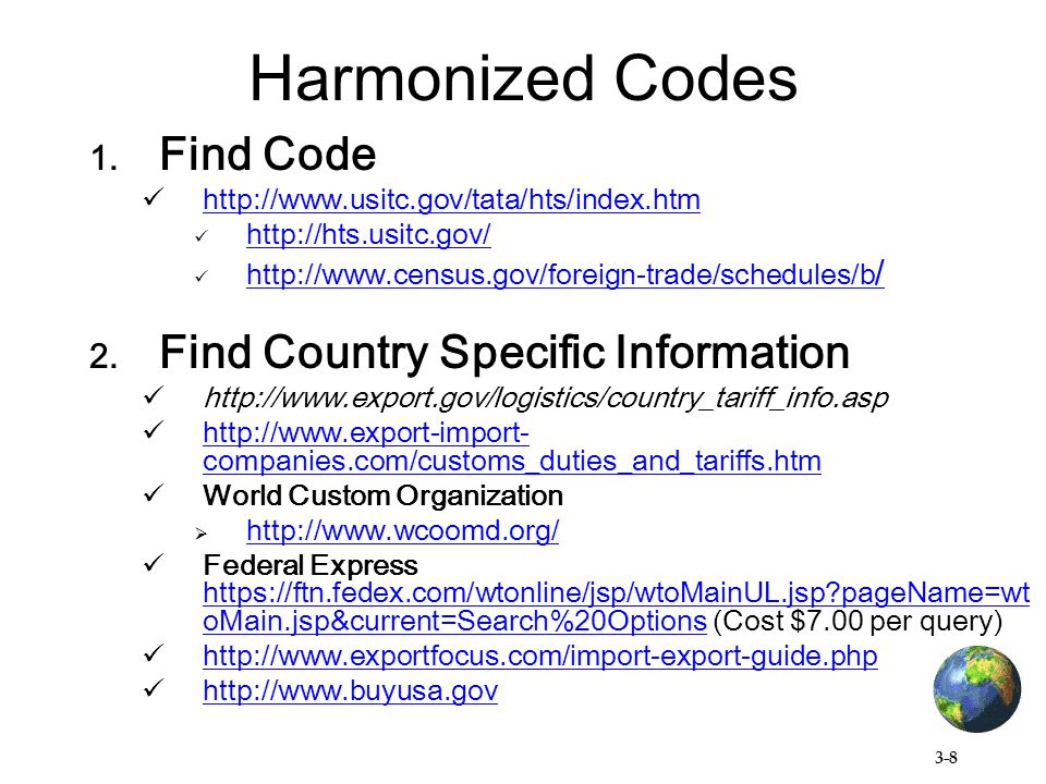 3-1 Information on HTS / B Codes  Exercise #2 – trade