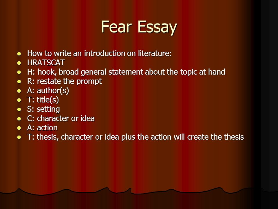 fears essay Numerous people in the modern society suffer from an assortment of unique fears and or phobias an example of one of these more popularly known phobias would be arachnophobia, the fear of spiders, or in my case aviophobia which is the scientific name for fear of flying it is quite a regularly.