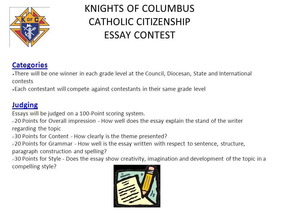 catholic essay contest 2018