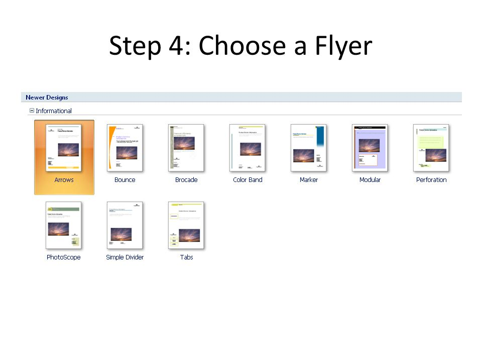 how to make flyers with microsoft publisher step one open microsoft