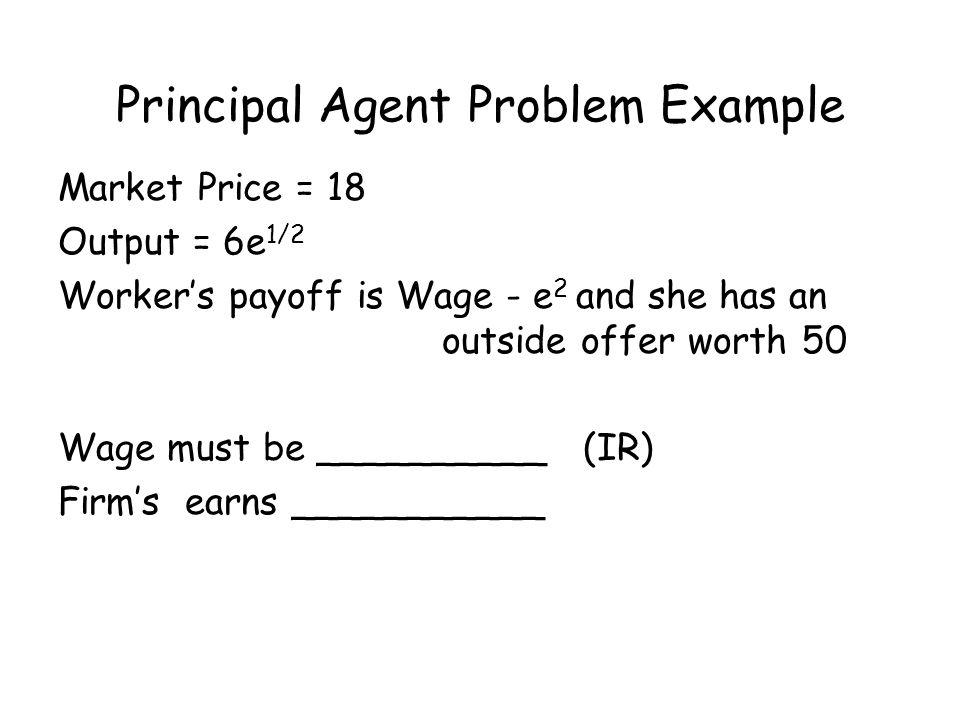 principal agent problem example