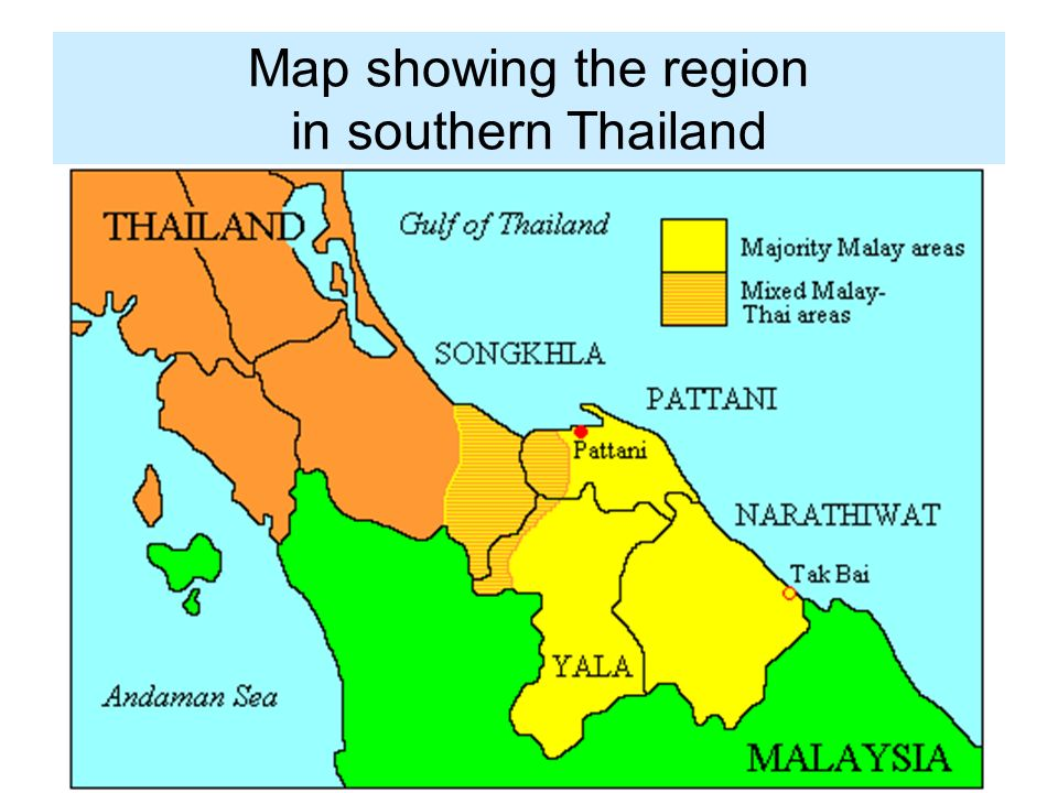 Pattani Thailand Map.Map Showing The Region In Southern Thailand Introdu Ction In The