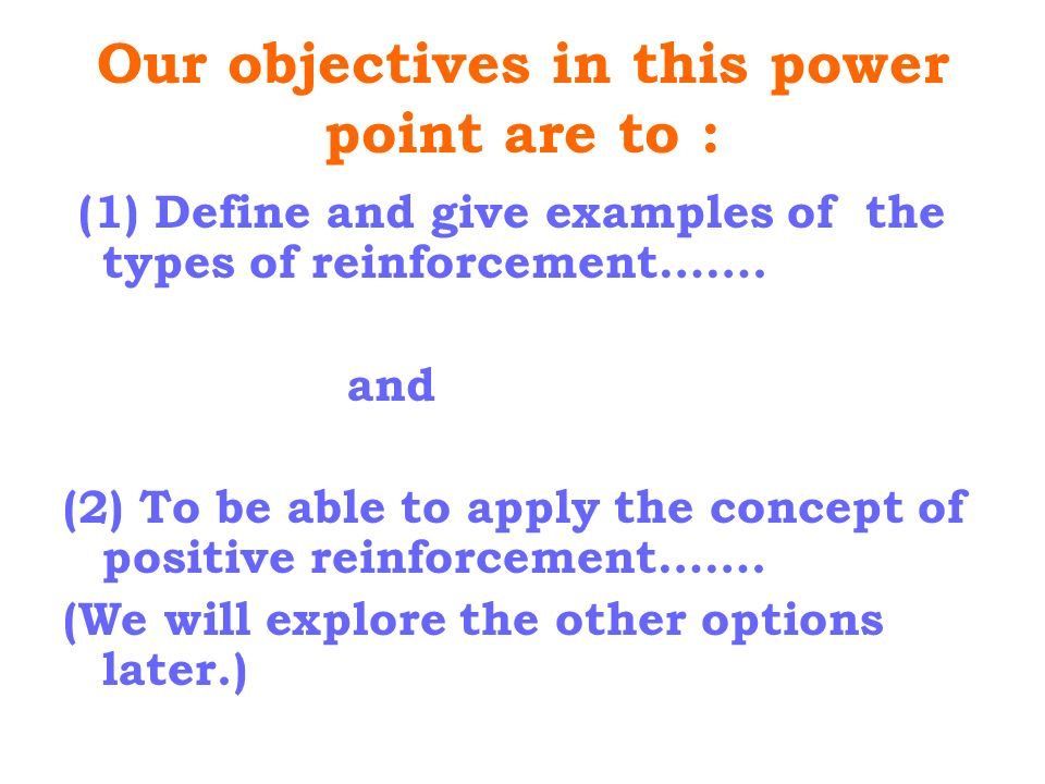 reinforcement theory examples