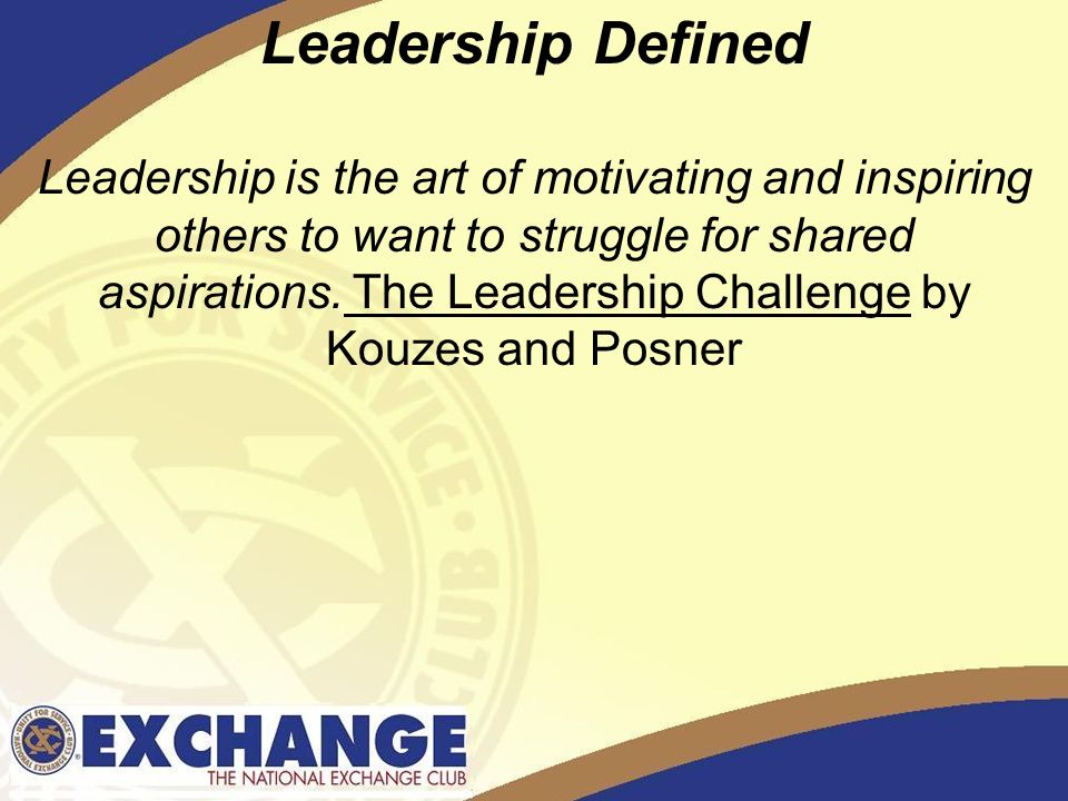 Defining the Art of Leadership