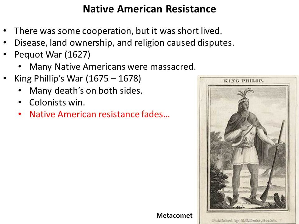 82 Native American Resistance There was some cooperation, but it was short lived.