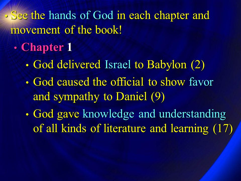 6 The Sovereign GOD (Daniel 2:20-23)  The ultimate message