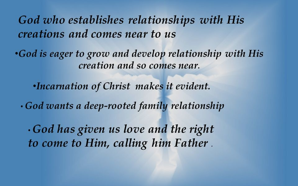 the relationship with god