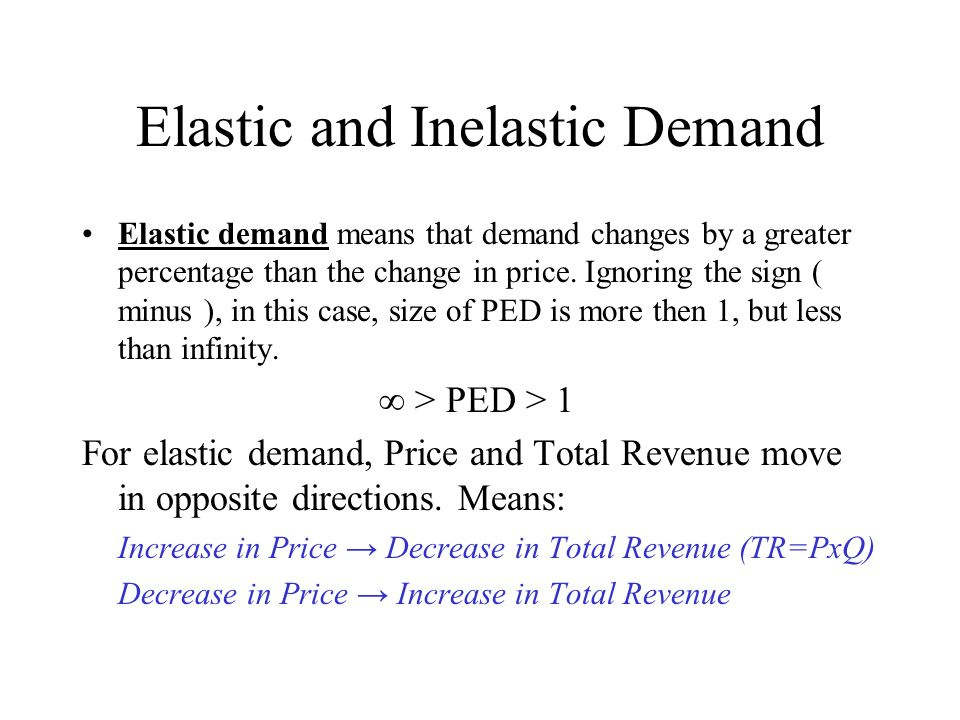 Unit 8 2 Price Elasticity Of Demand Elastic And Inelastic Demand Elastic Demand Means That Demand Changes By A Greater Percentage Than The Change In Ppt Download