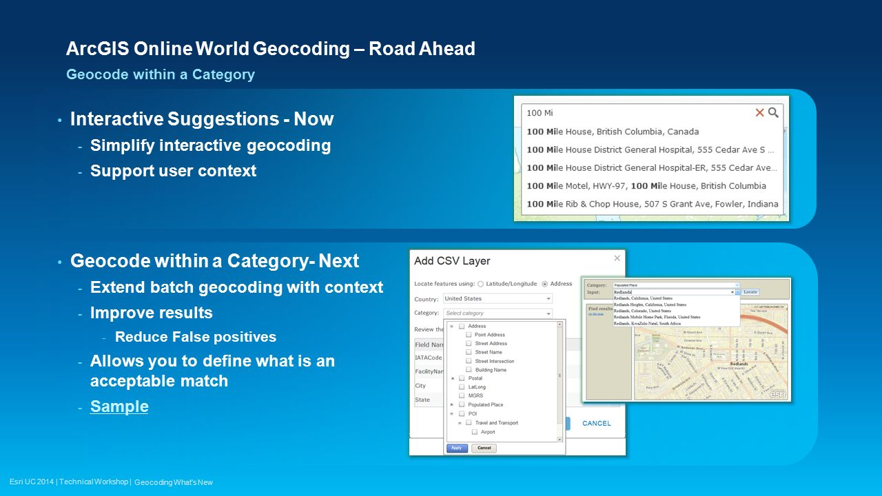 Esri UC 2014 | Technical Workshop | Geocoding with ArcGIS