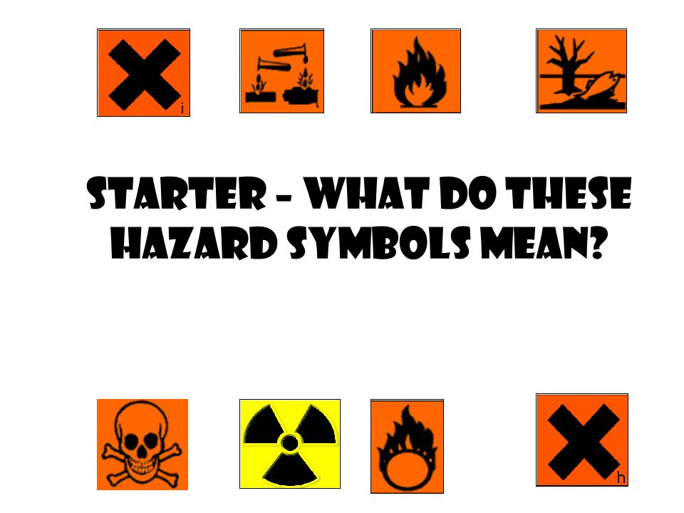 Starter What Do These Hazard Symbols Mean You Need To Know What