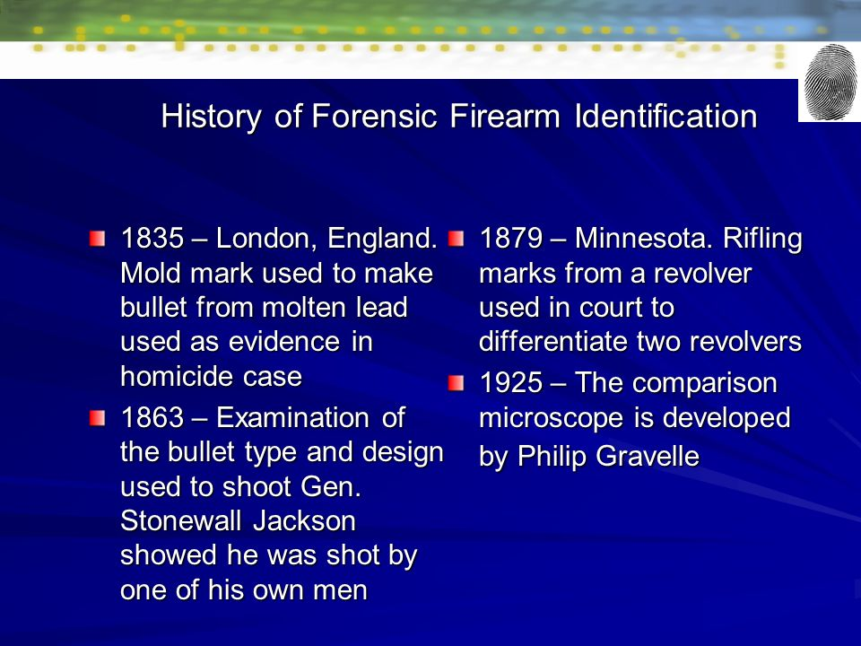 1 What Is Ballistics Give 3 Examples Of How Ballistics Is Used In Forensic Science Ppt Download