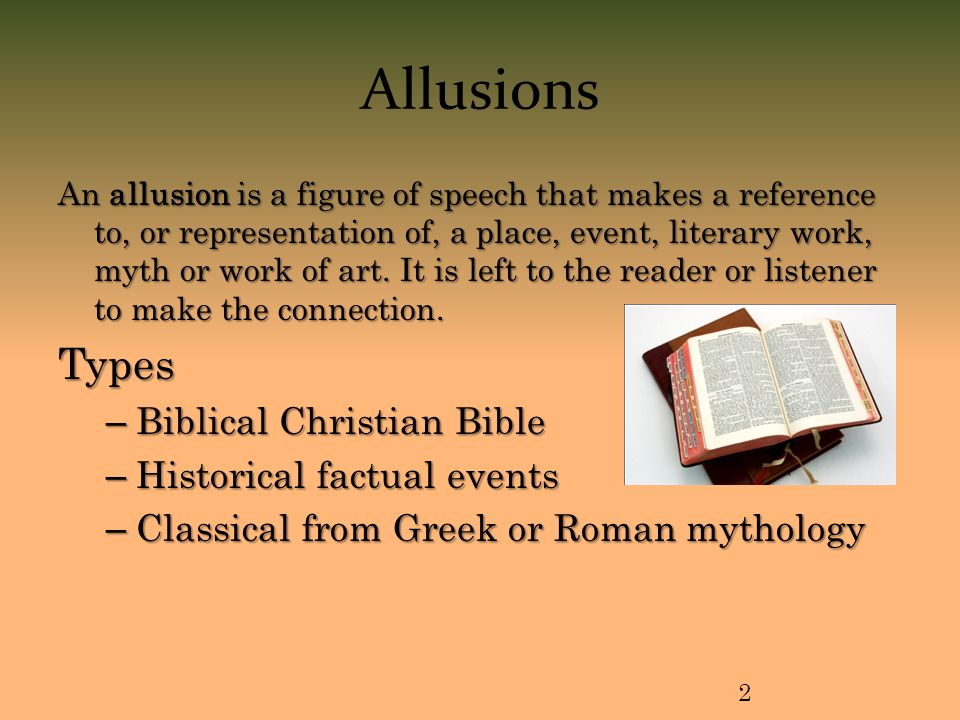 World Religions Intro To Allusions An Allusion Is A Figure Of