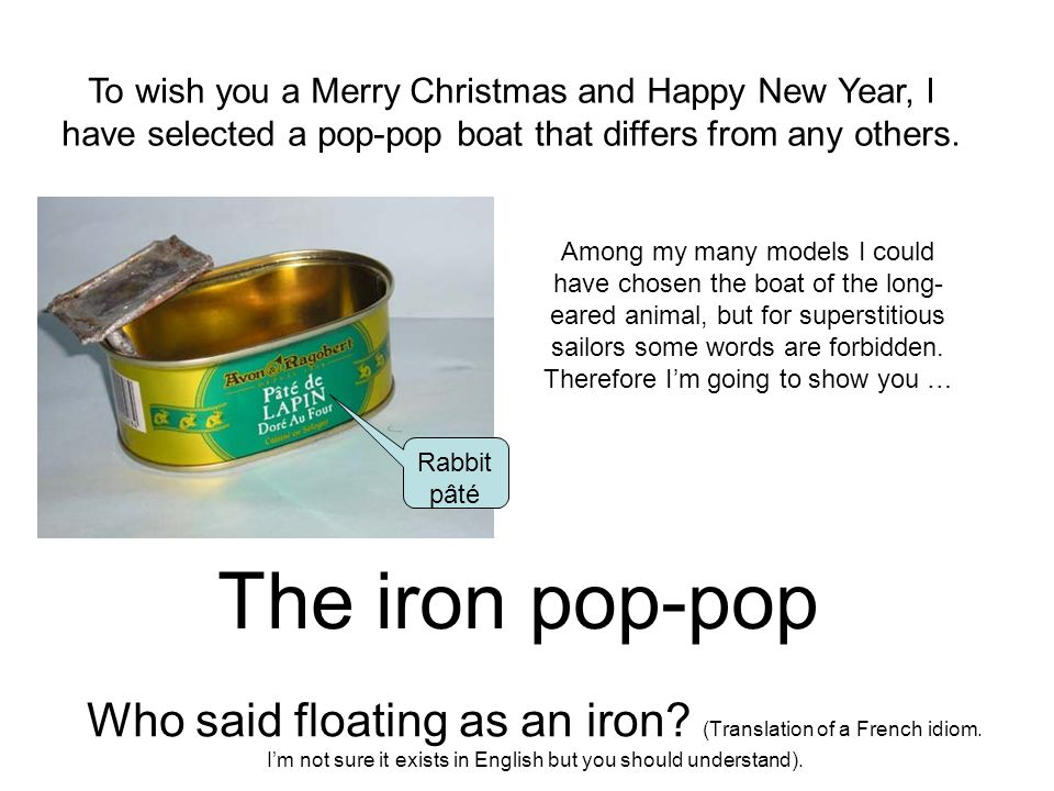 the iron pop pop who said floating as an iron translation of a